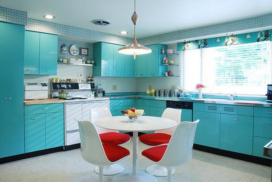 Дизайн кухни 2017-2018 современные идеи в зеленом цвете