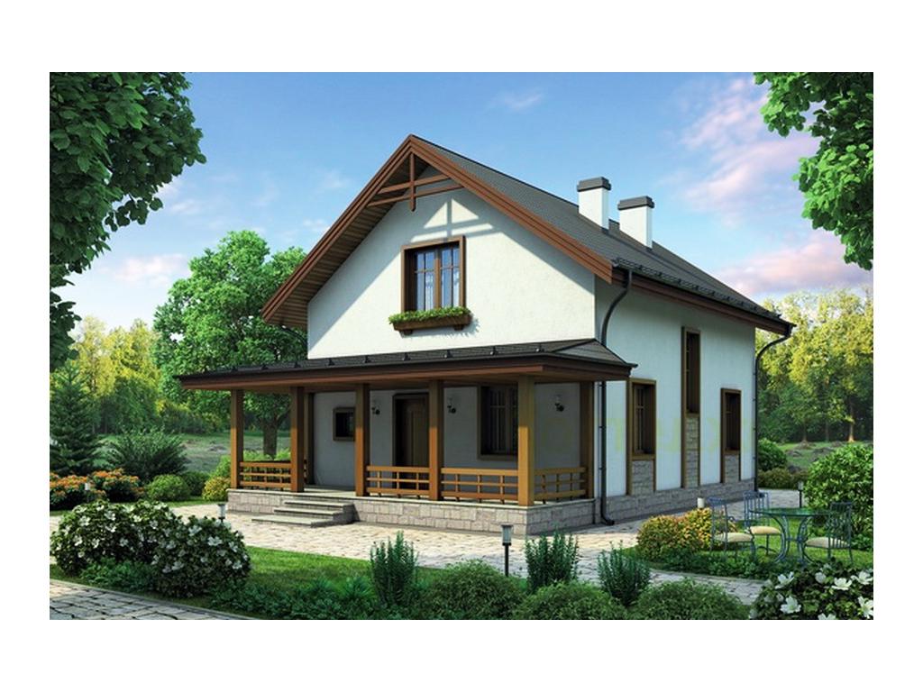 Небольшой дом из пеноблока картинки